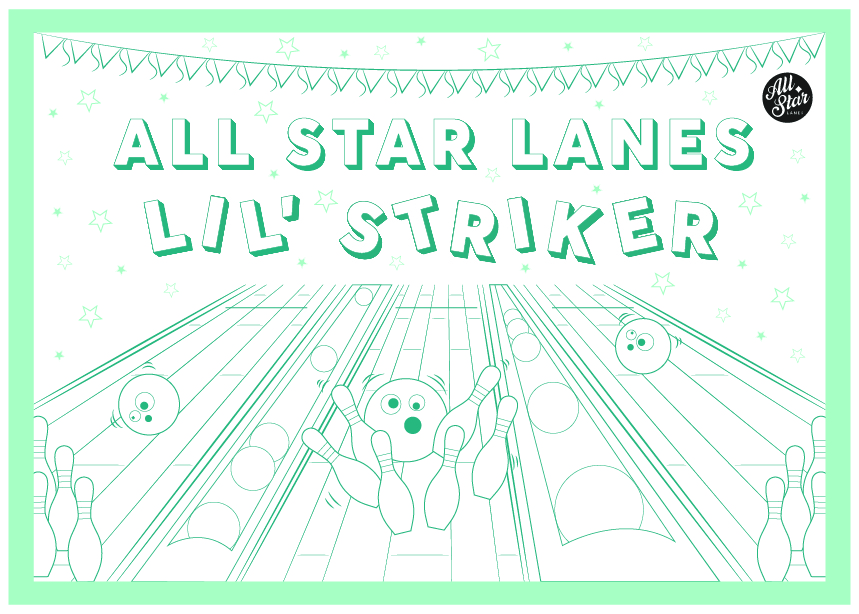 All Star Lanes Kids Colouring Sheet